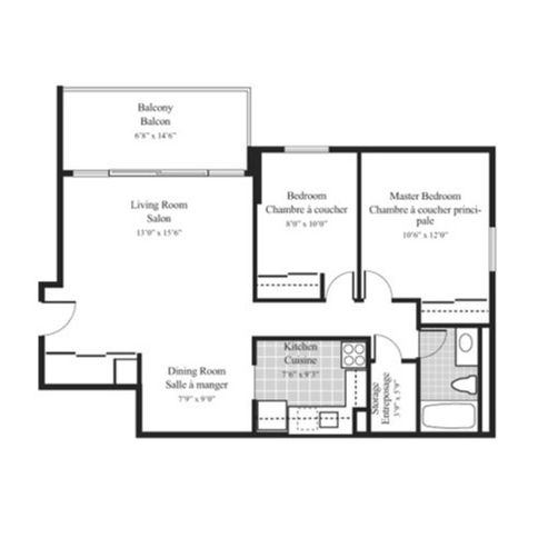 Floorplan 2ax 2 bedroom