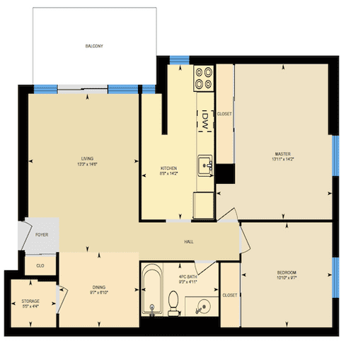 Floorplan 2a 2 bedroom