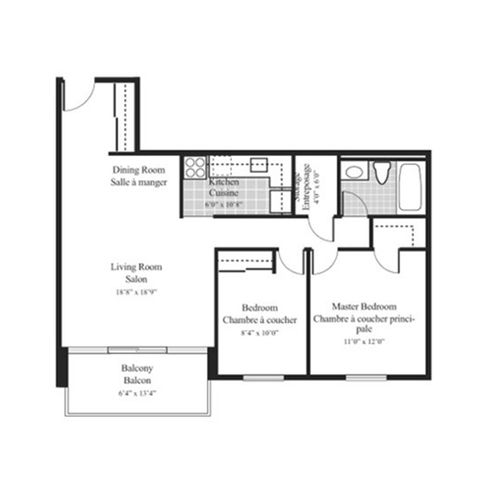 Floorplan 2b 2 bedroom