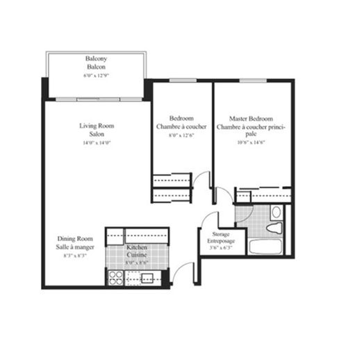 Floorplan 2c 2 bedroom